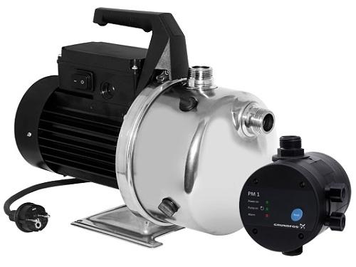 Set samonasávací čerpadlo Grundfos JP5+PM1 tlaková řídící jednotka