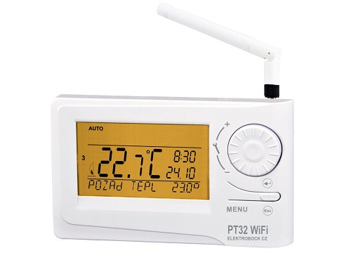 Inteligentní prostorový digitální termostat Elektrobock PT32 WiFi