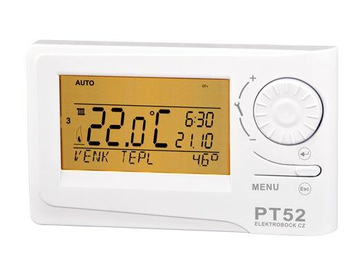 Digitální termostat s OpenTherm komunikací Elektrobock PT52