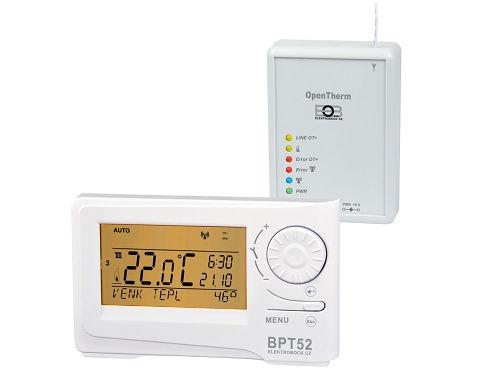 Digitální bezdrátový termostat s OT + komunikací Elektrobock BPT