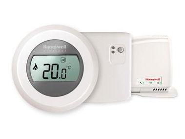 Bezdrátový jednozónový prostorový termostat ROUND Honeywell Y87RFC2074