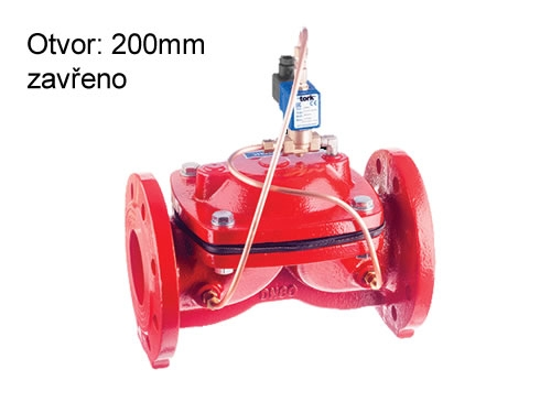 Elektromagnetický ventil na vodu TORK T-GLF 120 DN 200