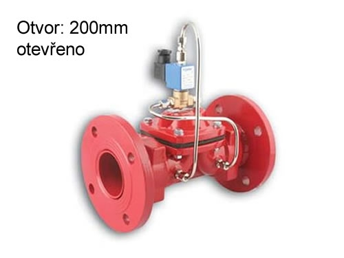 Elektromagnetický ventil na vodu TORK T-GLFN 120 DN 200