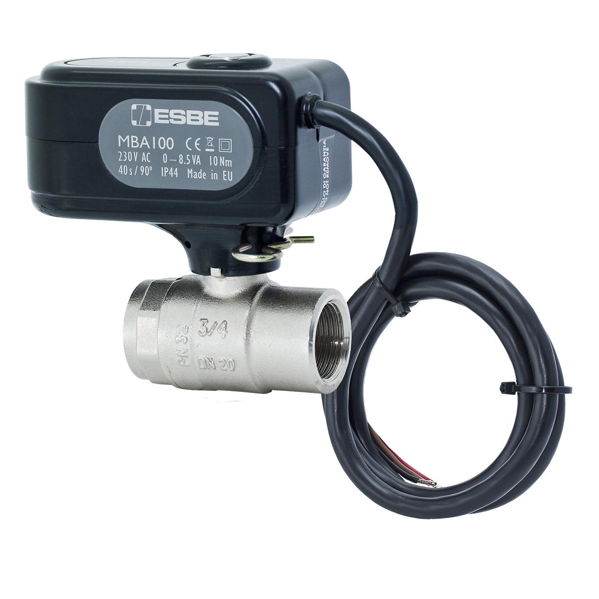 "Kulový ventil se servopohonem ESBE MBA121 G1"" F/F"