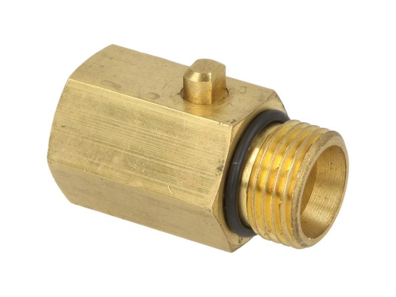 Kulový odkalovací ventil pro vodní filtry se zpětným proplachem