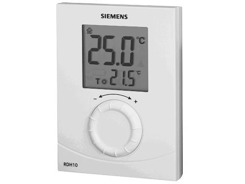 Digitální prostorový termostat s ovládacím kolečkem Siemens RDH 10