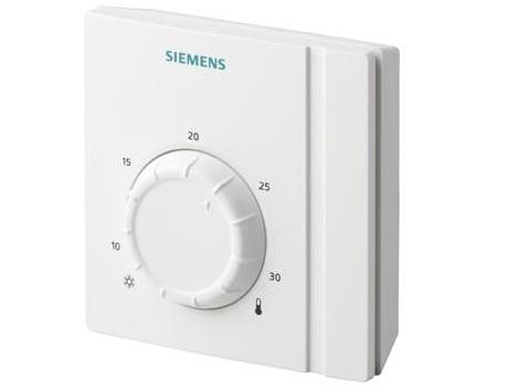 Prostorový termostat s ovládacím kolečkem Siemens RAA 21