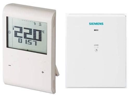Bezdrátový prostorový termostat Siemens RDE 100.1 RFS