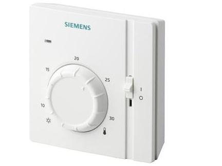 Prostorový termostat s ovládacím kolečkem Siemens RAA 31.16